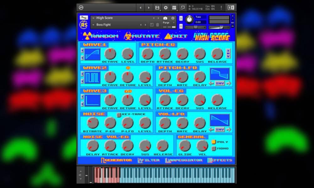 High Score - чиптюновый софтовый синт от Renegade Soundplay