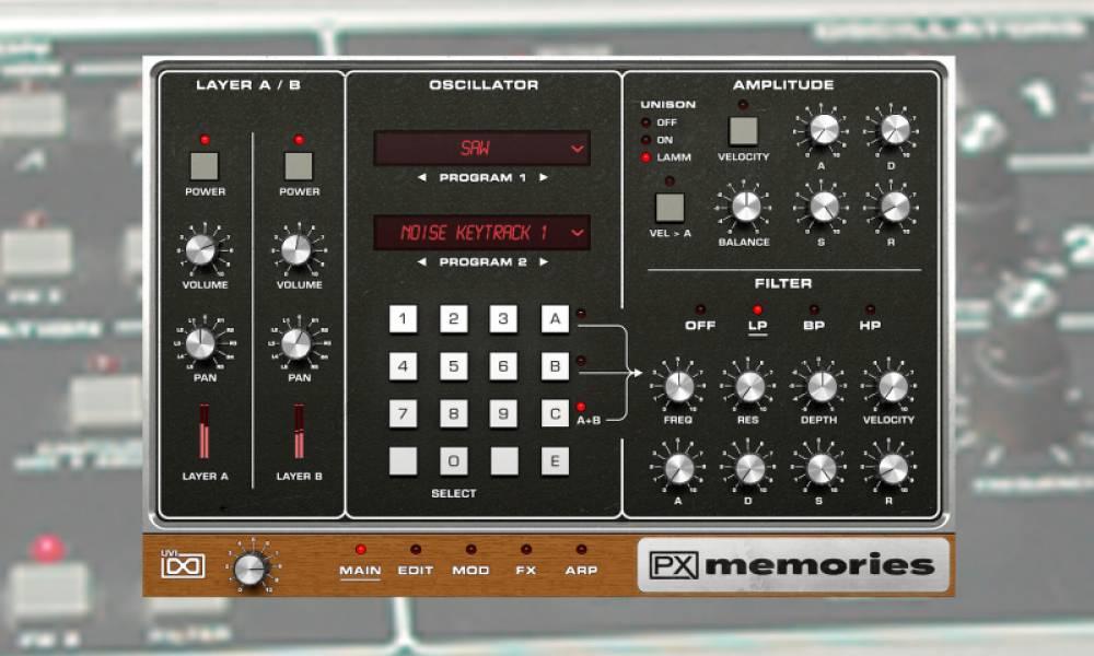 UVI PX Memories - софтовая версия легендарного Memorymoog