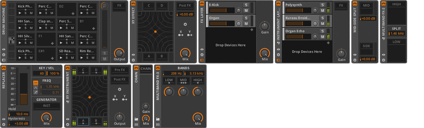 mmag bitwig Devices Containers