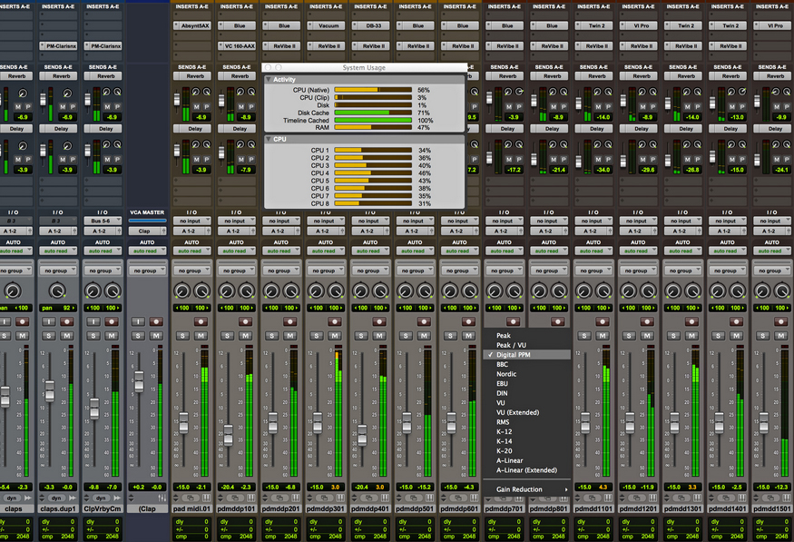 Have confidence in your mix with new metering options (Pro Tools HD 11 only)