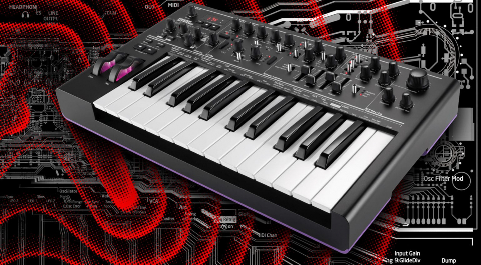 Novation AFX Station - Bass Station 2 в черном корпусе