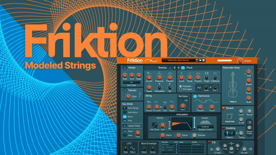 "Friktion Modeled Strings - ""струнный"" синтезатор от Propellerhead Software"